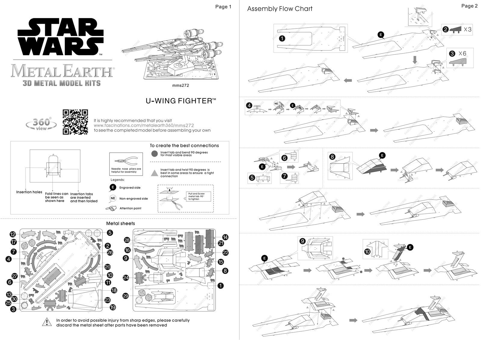 Instruction of Poe Dameron's X-wing Fighter | Star Wars