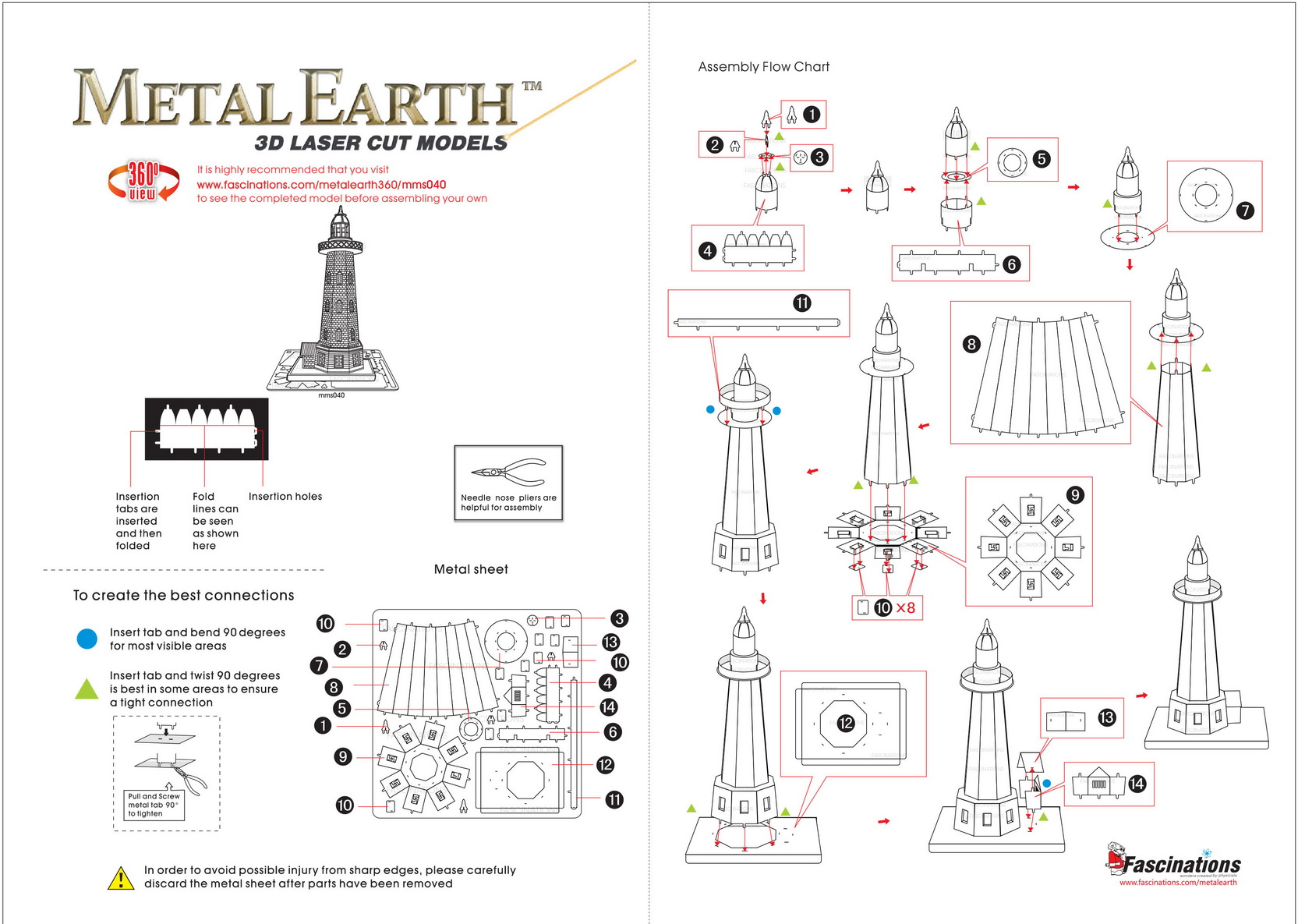 Instruction of Lighthouse | Metal Earth Miscellaneous