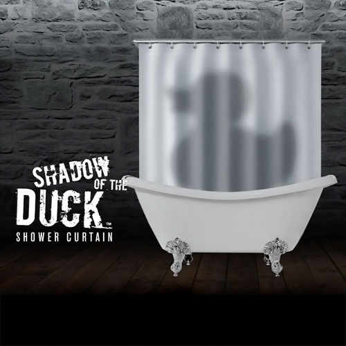 Picture Of Shadow Of The Duck Shower Curtain ...