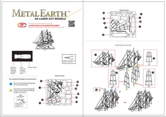 Instruction of Black Pearl Model | Metal Earth Ship