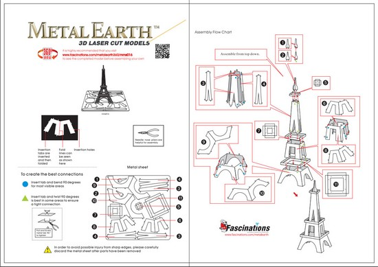 Instruction of Eiffel Tower Model | Metal Earth Architecture