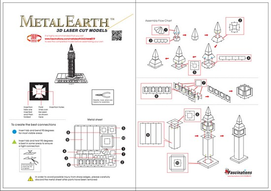 Instruction of Big Ben Tower | Metal Earth Architecture