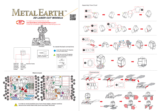 Instruction of Bumblebee | Metal Earth Transformers