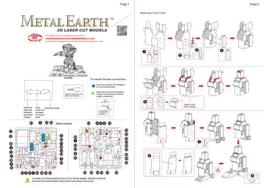 Instruction of Soundwave | Metal Earth Transformers