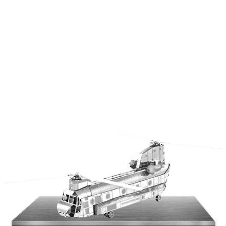Picture of CH 47 Chinook  3D Laser Cut Model