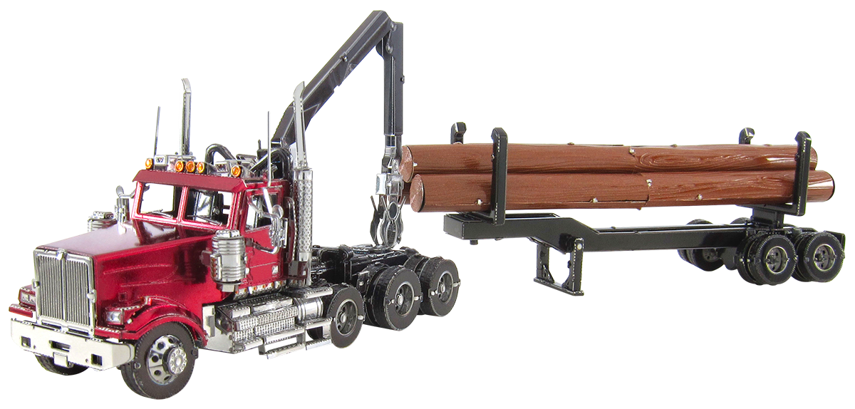 Picture of Western Star 4900 Log Truck & Trailer