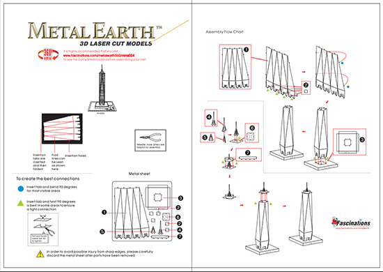 Instruction of One World Trade Center | Metal Earth Architecture