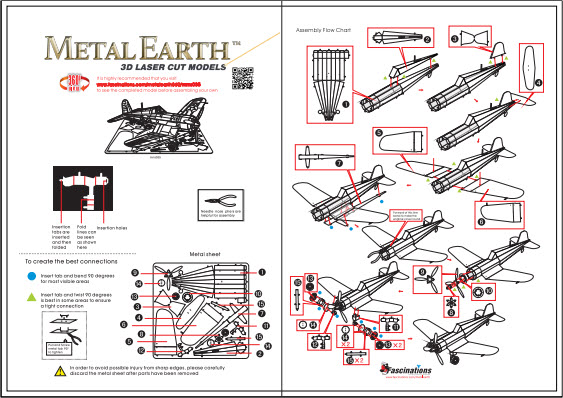 Instruction of F4U Corsair | Metal Earth Flight
