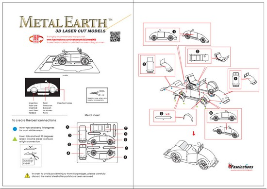 Instruction of Beach Buggy | Metal Earth Vehicles