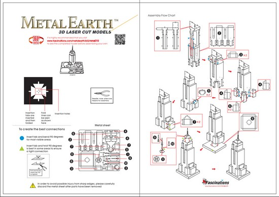 Instruction of Empire State Building | Metal Earth Architecture
