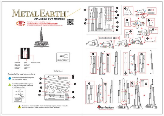 Instruction of Burj Khalifa | Metal Earth Architecture