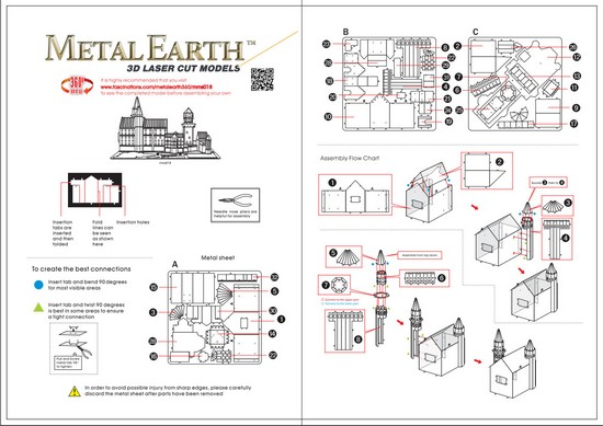Instruction of Neuschwanstein Castle | Metal Earth Architecture