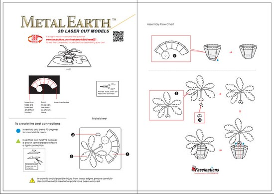 Instruction of Sago Palm Tree | Metal Earth Miscellaneous