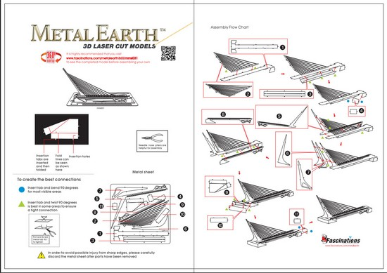 Instruction of Sundial Bridge | Metal Earth Architecture
