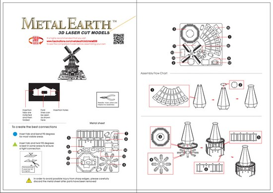 Instruction of Windmill | Metal Earth Miscellaneous