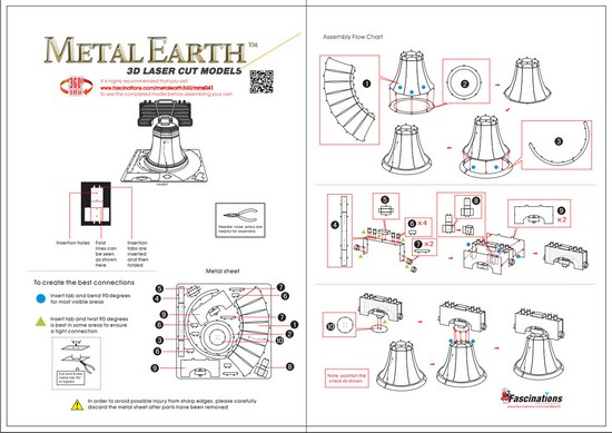 Instruction of Liberty Bell | Metal Earth Miscellaneous