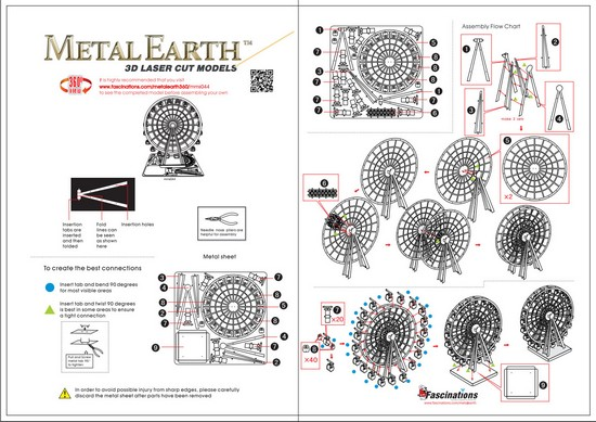 Instruction of Ferris Wheel | Metal Earth Miscellaneous
