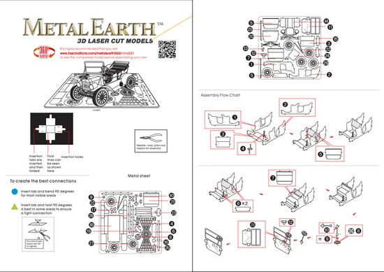 Instruction of Ford Model | Metal Earth Vehicles