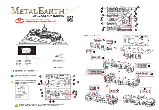 Instruction of US Capitol | Metal Earth Architecture