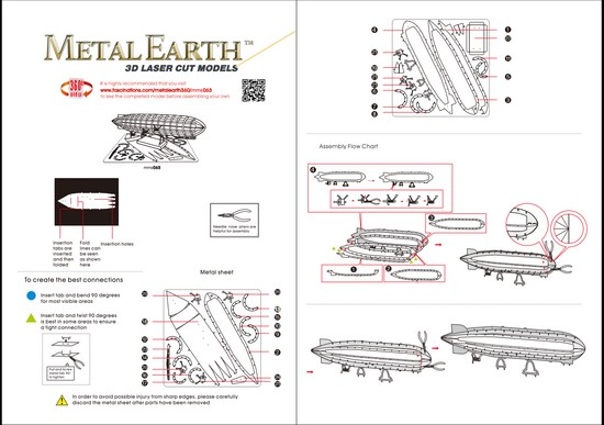 Instruction of Graf Zeppelin | Metal Earth Flight