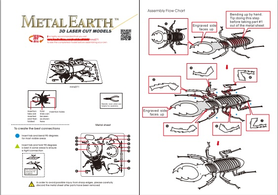 Instruction of Stag Beetle | Metal Earth Bugs