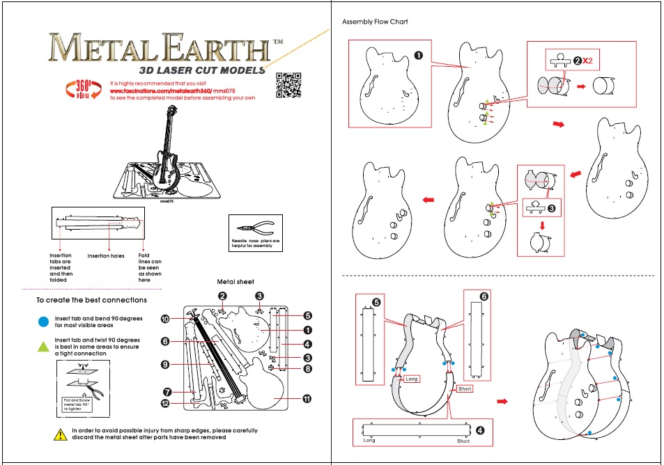 Instruction of Electric Bass Guitar | Metal Earth Musical