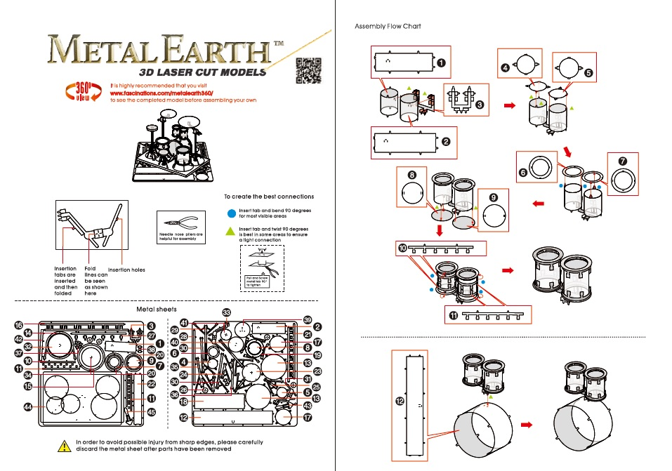 Instruction of Drum Set | Metal Earth Musical