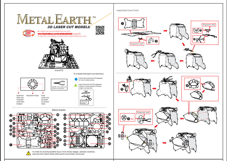 Instruction of Apollo Lunar Module | Metal Earth Miscellaneous