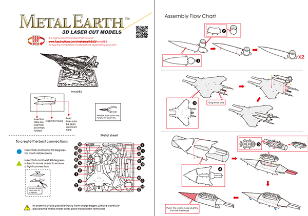 Instruction of F-15 Eagle | Metal Earth Flight