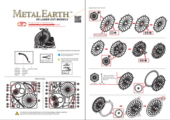 Instruction of High Wheel Bicycle | Metal Earth Miscellaneous