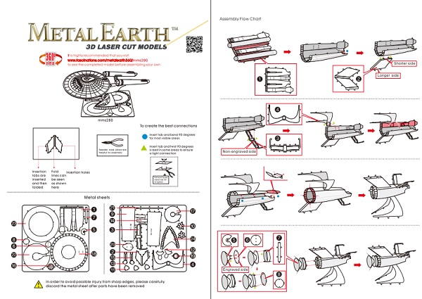 Instruction of Enterprise NCC-1701 | Metal Earth Star Trek