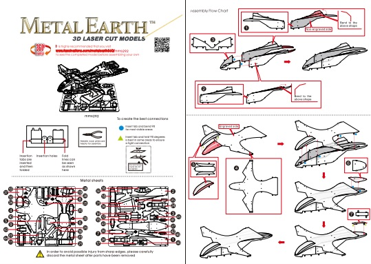 Instruction of UNSC Pelican | Metal Earth Halo